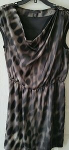 Kenneth Cole Animal Print Cinch Waist Dress